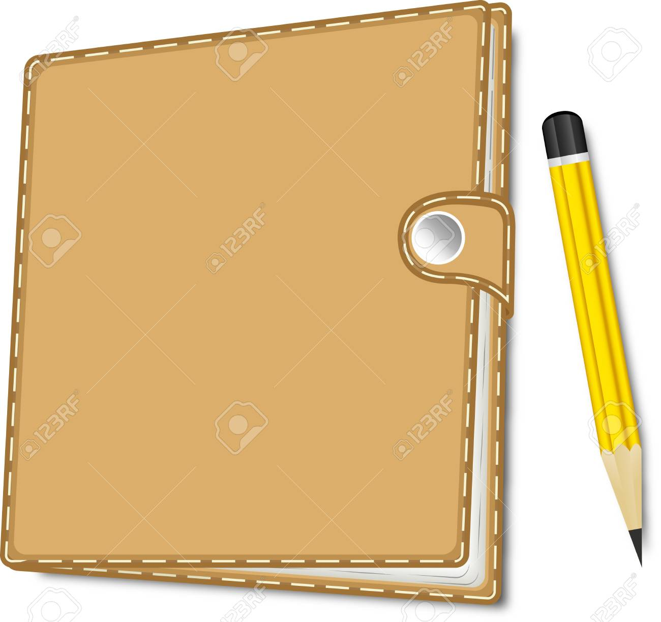 Note Book With Pencil Stock Vector - 17974495