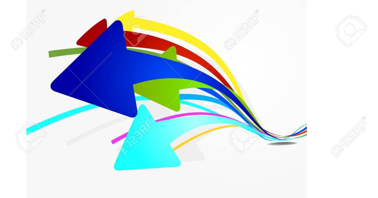 Arrow Wave Full Color Stock Vector - 18174062
