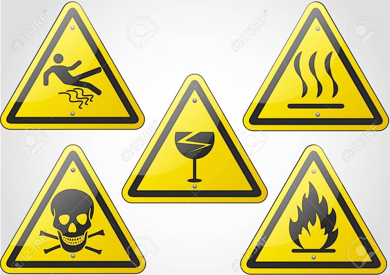 Warning Sign Set 2 Stock Vector - 18367017