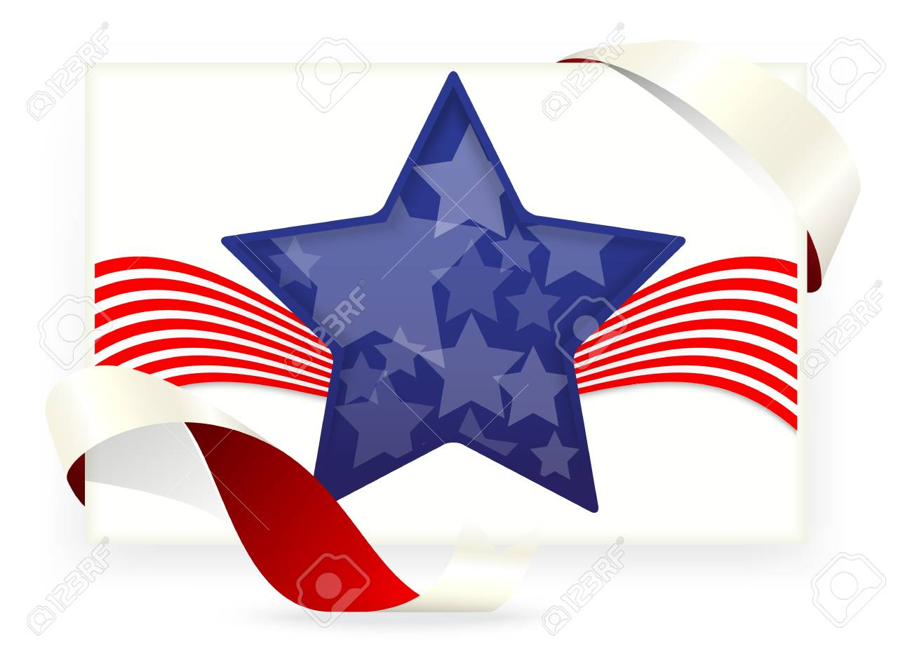 Illustration Of American Flag , Business Cards Royalty Free Cliparts ...