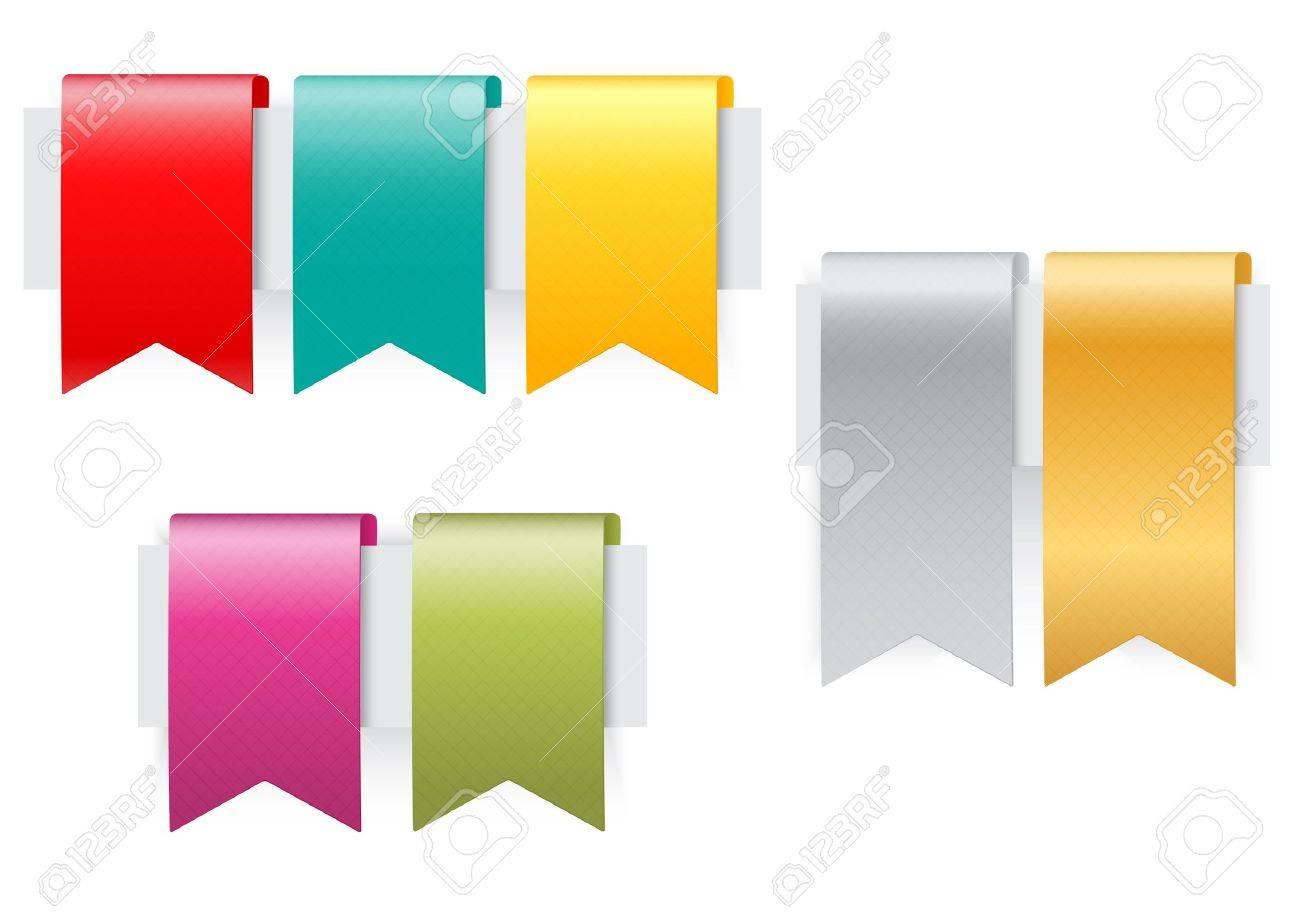 Ribbon set on white background Stock Vector - 20353682