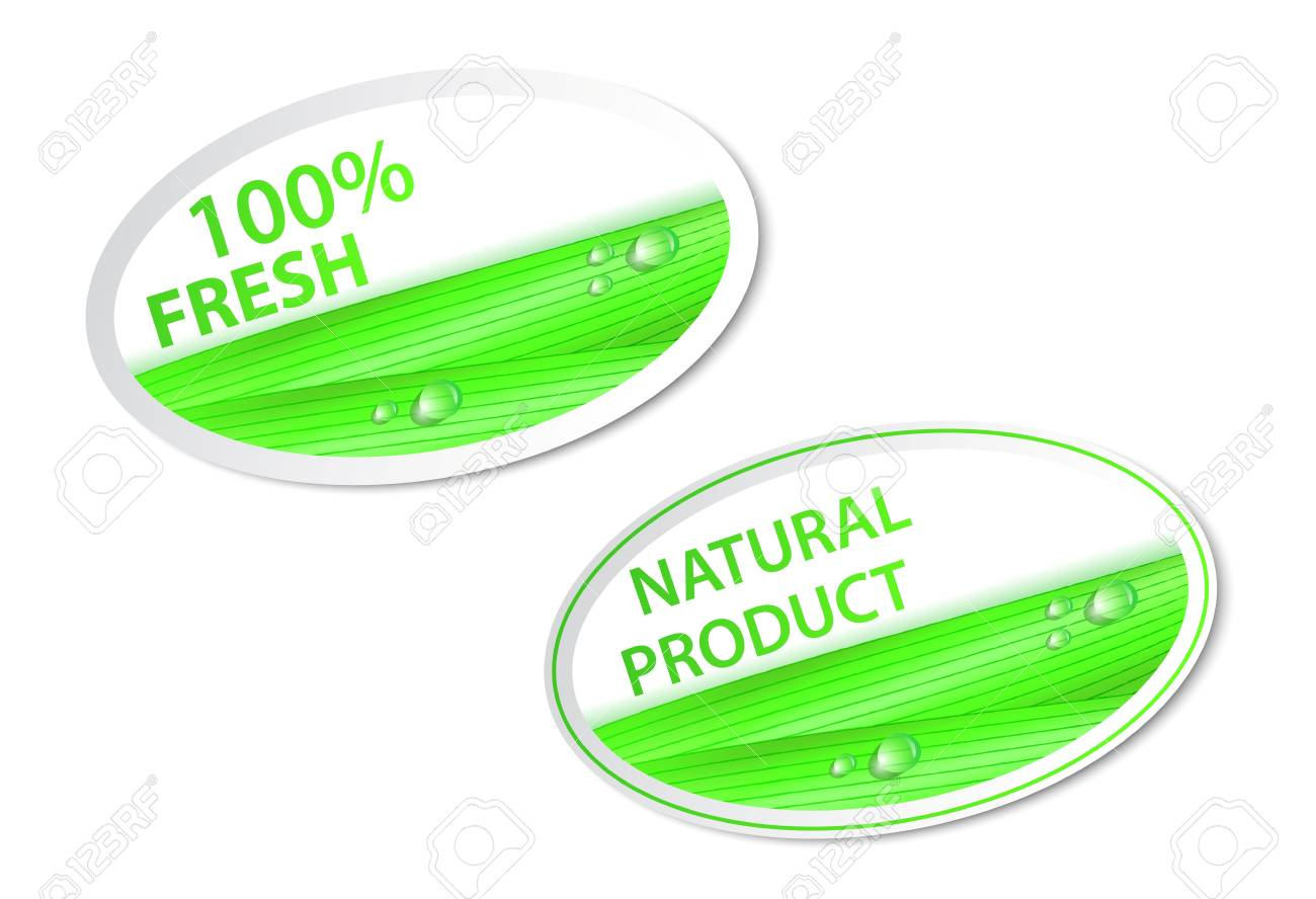 Vector Illustration Of fresh natural labels and stickers Stock Vector - 20782682