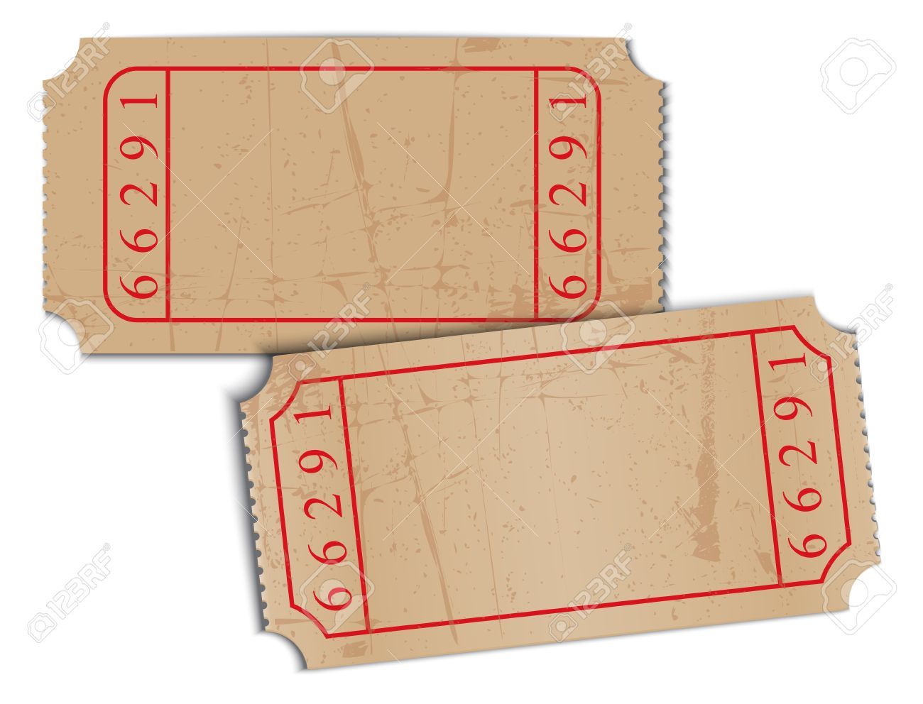 Vector Vintage Blank Paper Tickets Royalty Free Cliparts Vectors – Blank Ticket
