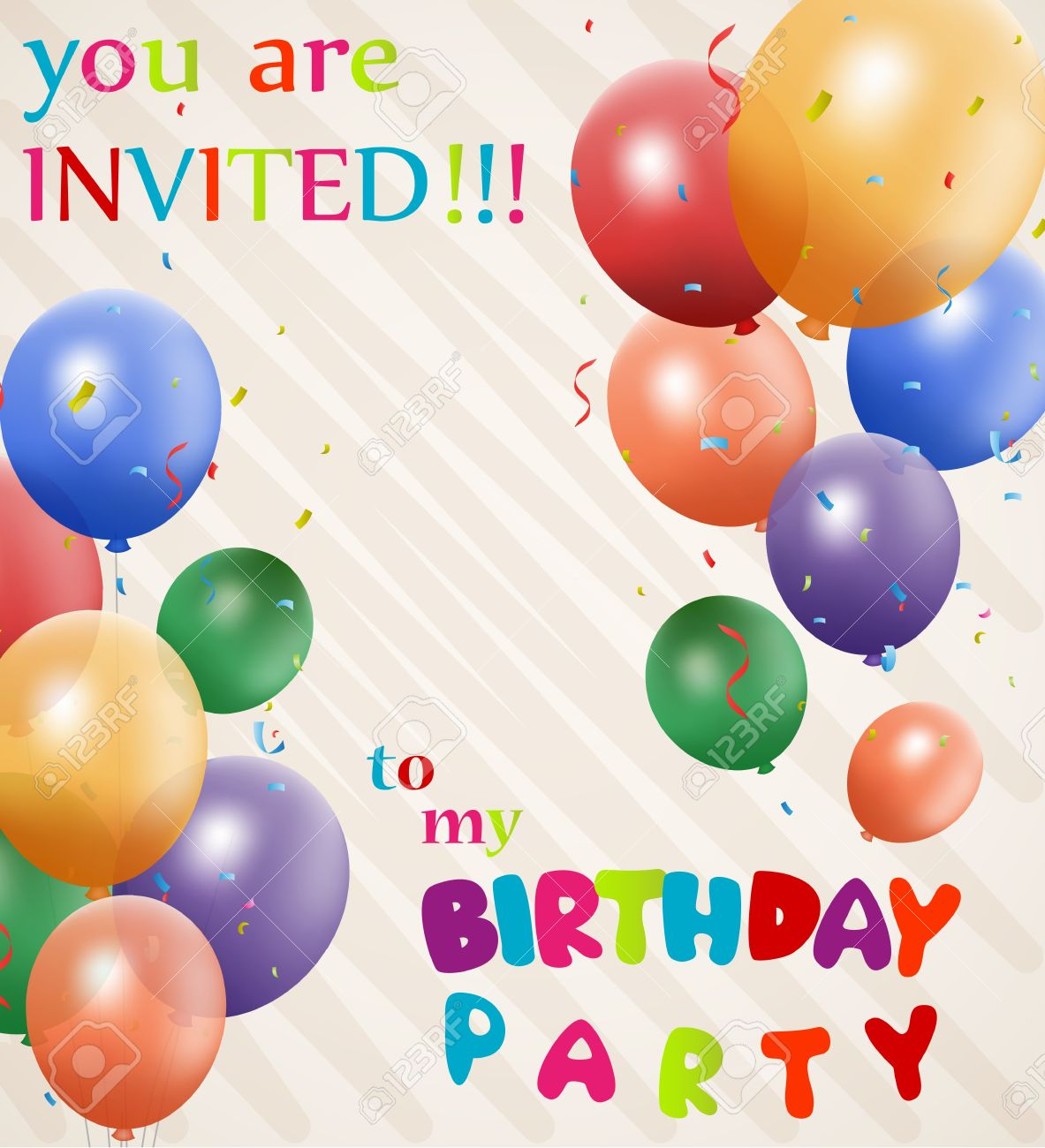 Birthday Invitation Background Royalty Free Cliparts, Vectors, And ...