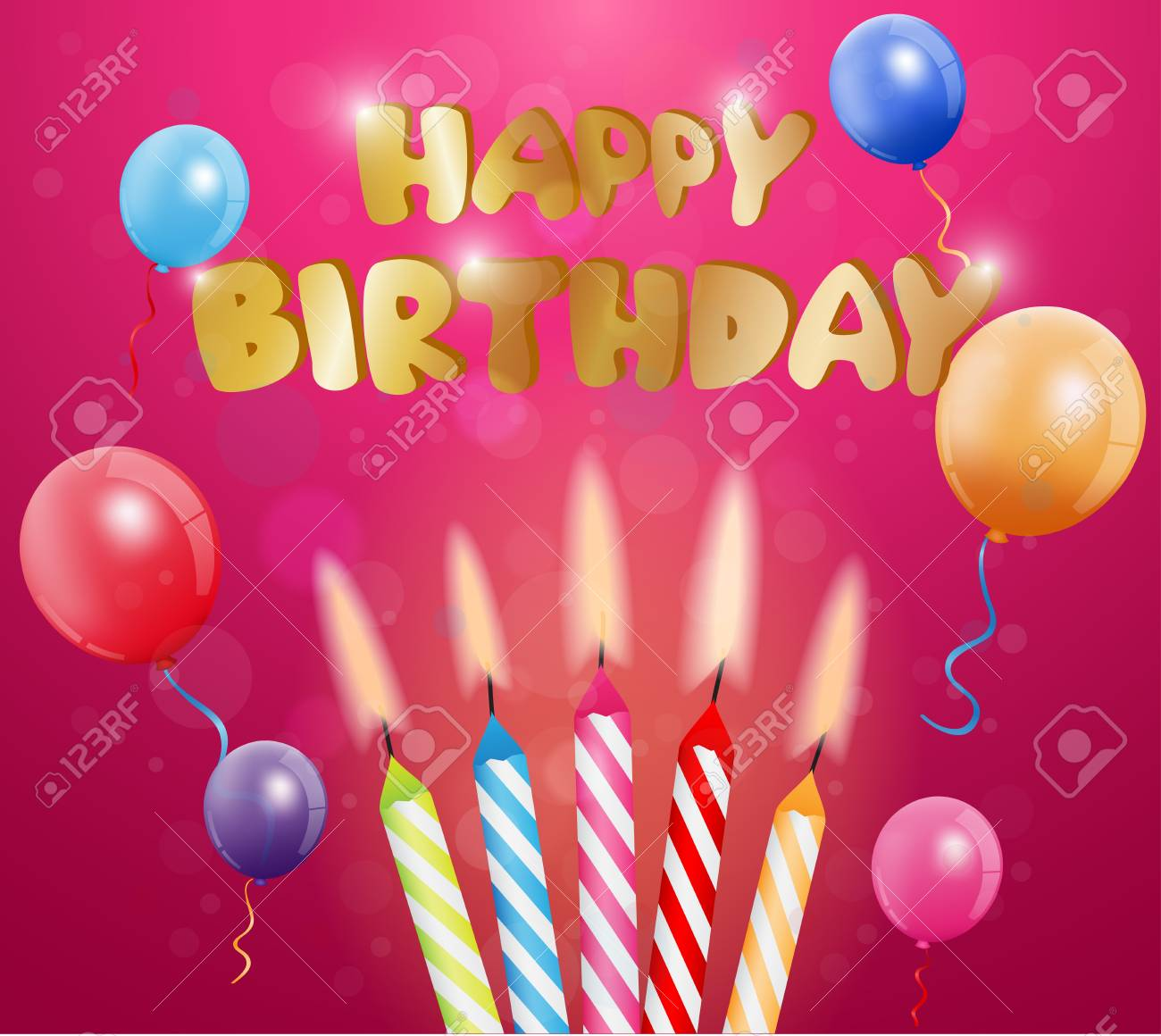 Happy Birthday Greetings Card Royalty Free Cliparts Vectors And