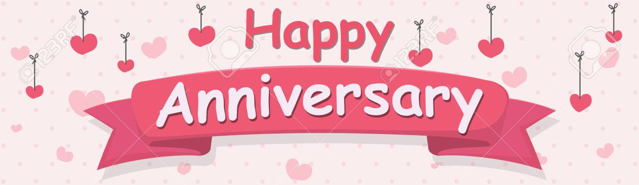 happy anniversary banner royalty free cliparts vectors and stock