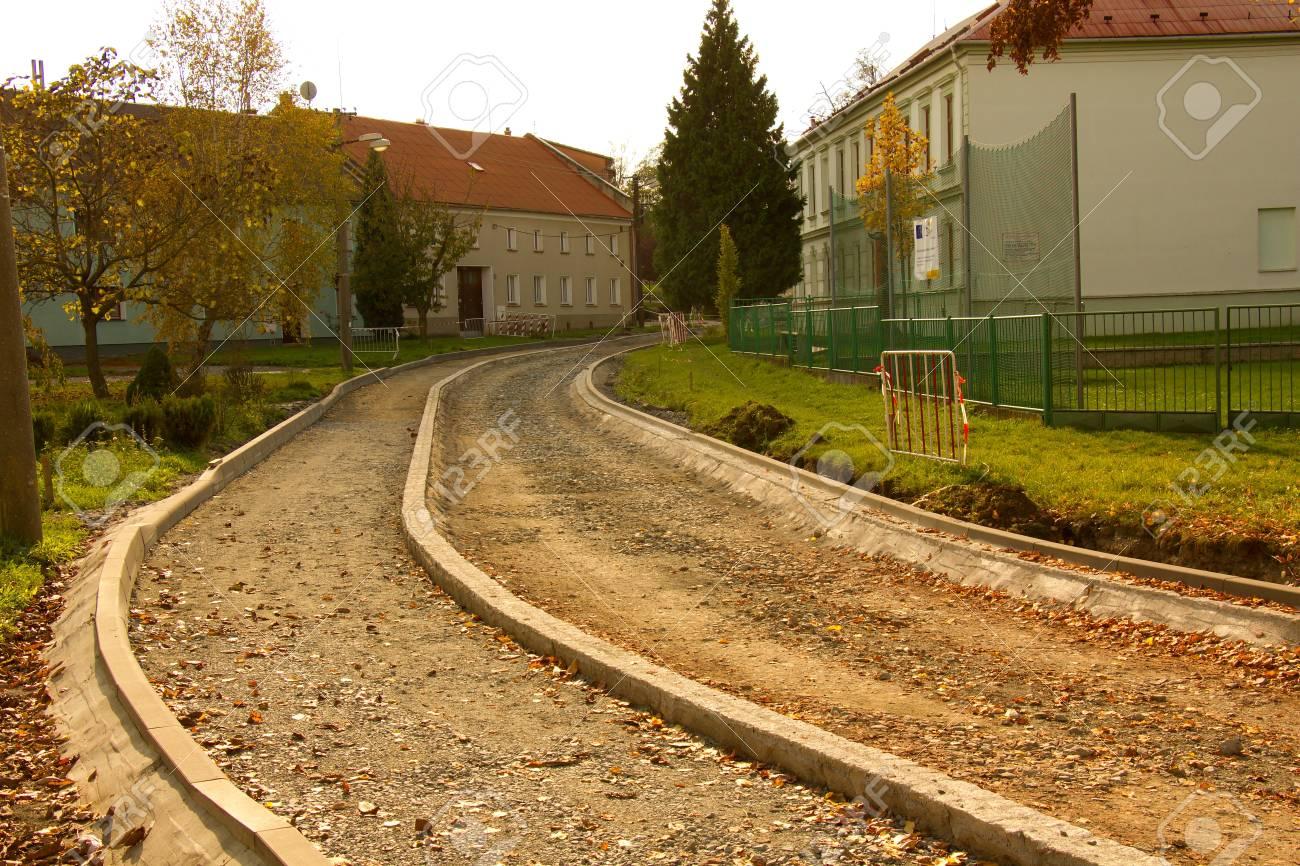 La preparación del sustrato para la construcción de una nueva carretera