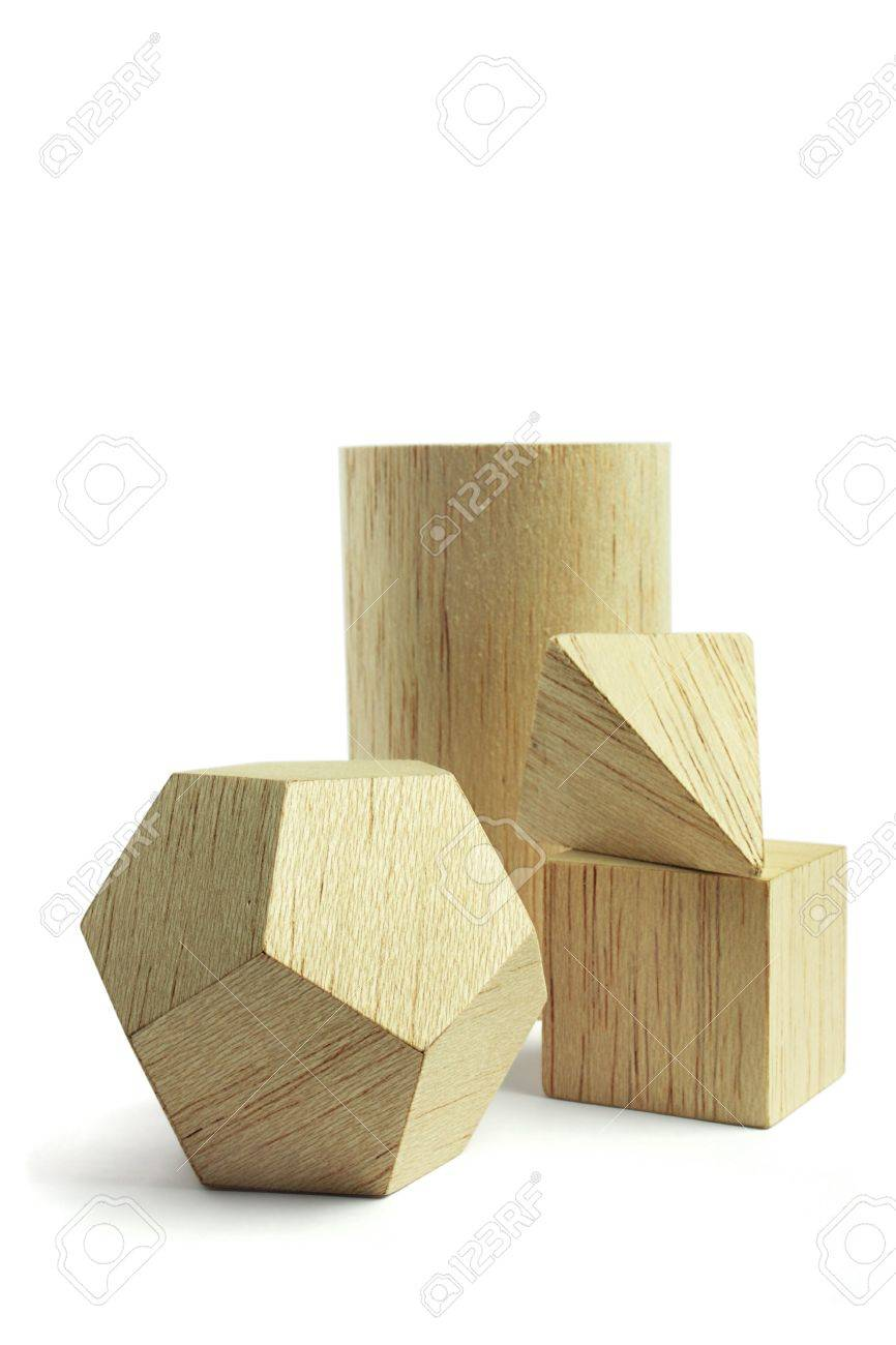 Balsa wood model group, on the white background