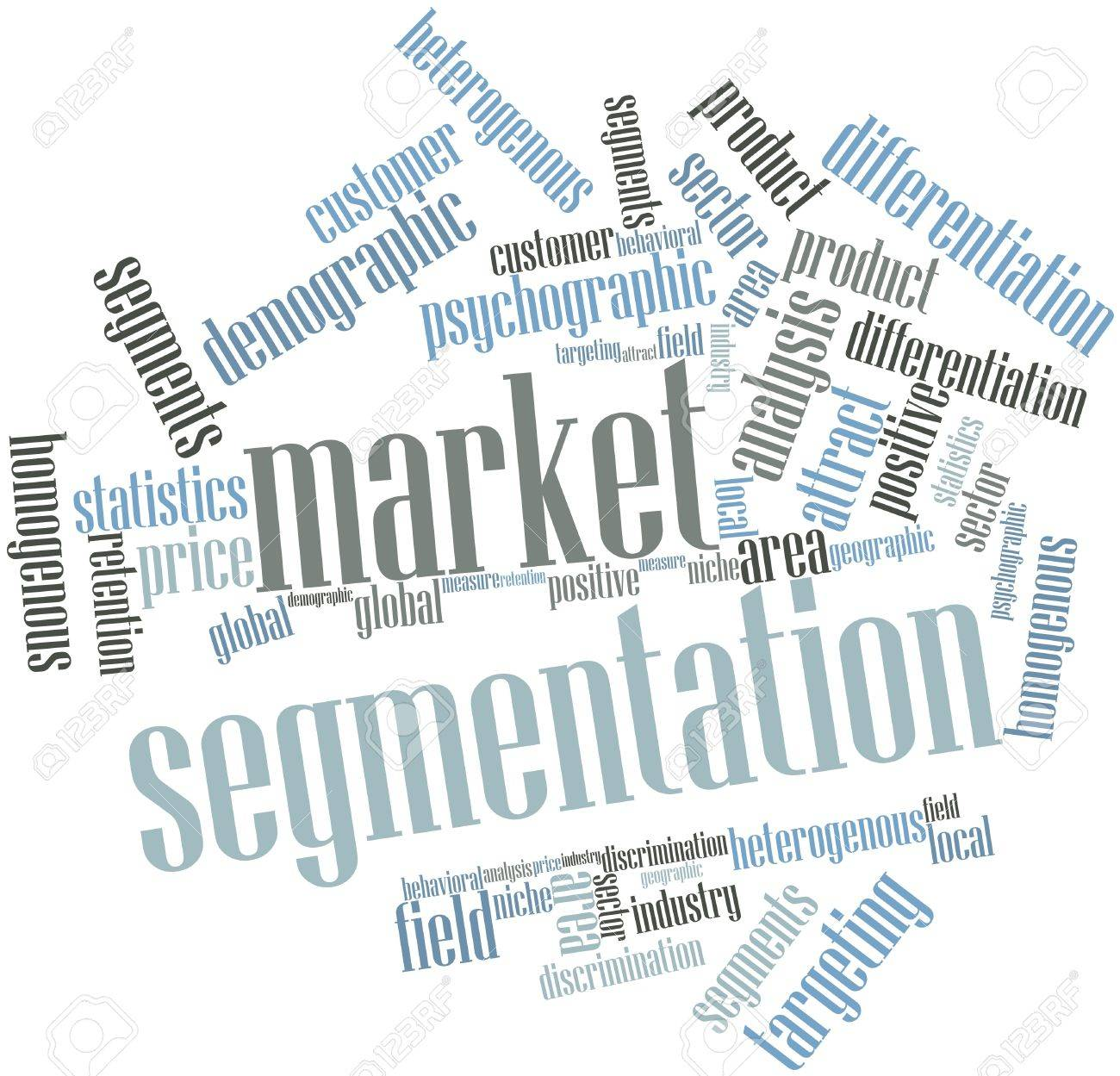Abstract word cloud for Market segmentation with related tags and terms Stock Photo - 15801878