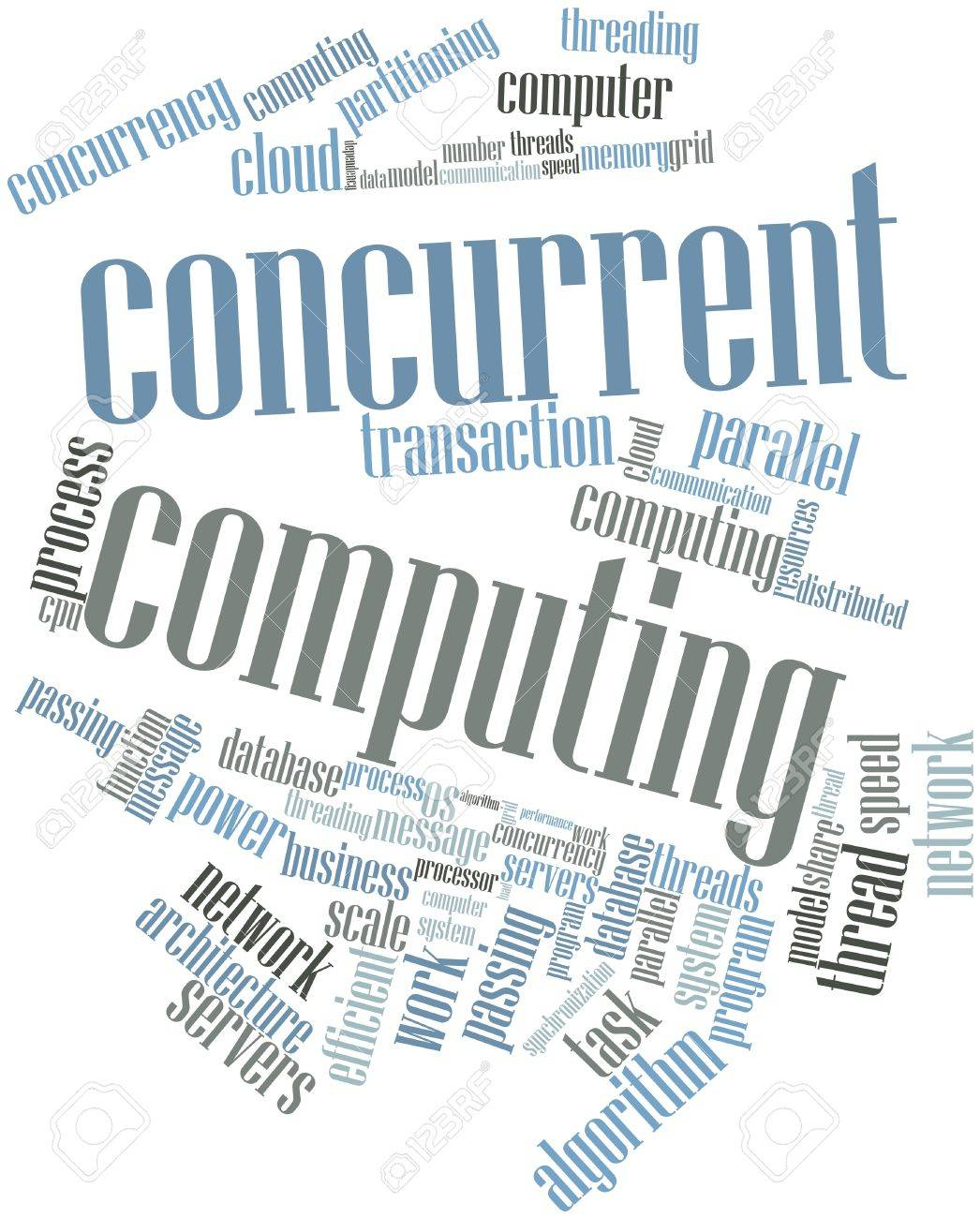 Abstract word cloud for Concurrent Computing with related tags and terms Stock Photo - 15829982
