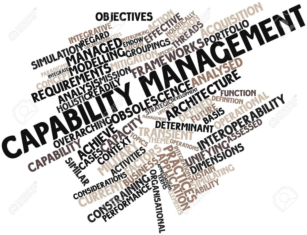Abstract word cloud for Capability management with related tags and terms Stock Photo - 15995854