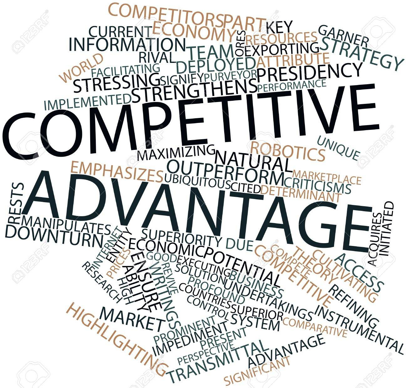 Abstract word cloud for Competitive advantage with related tags and terms Stock Photo - 15996126