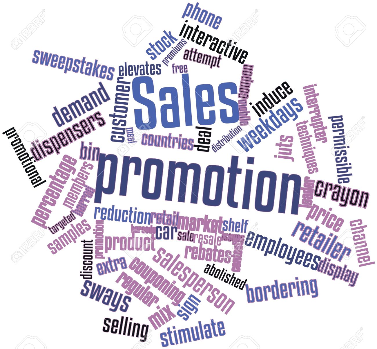 Abstract Word Cloud For Sales Promotion With Related Tags And ...
