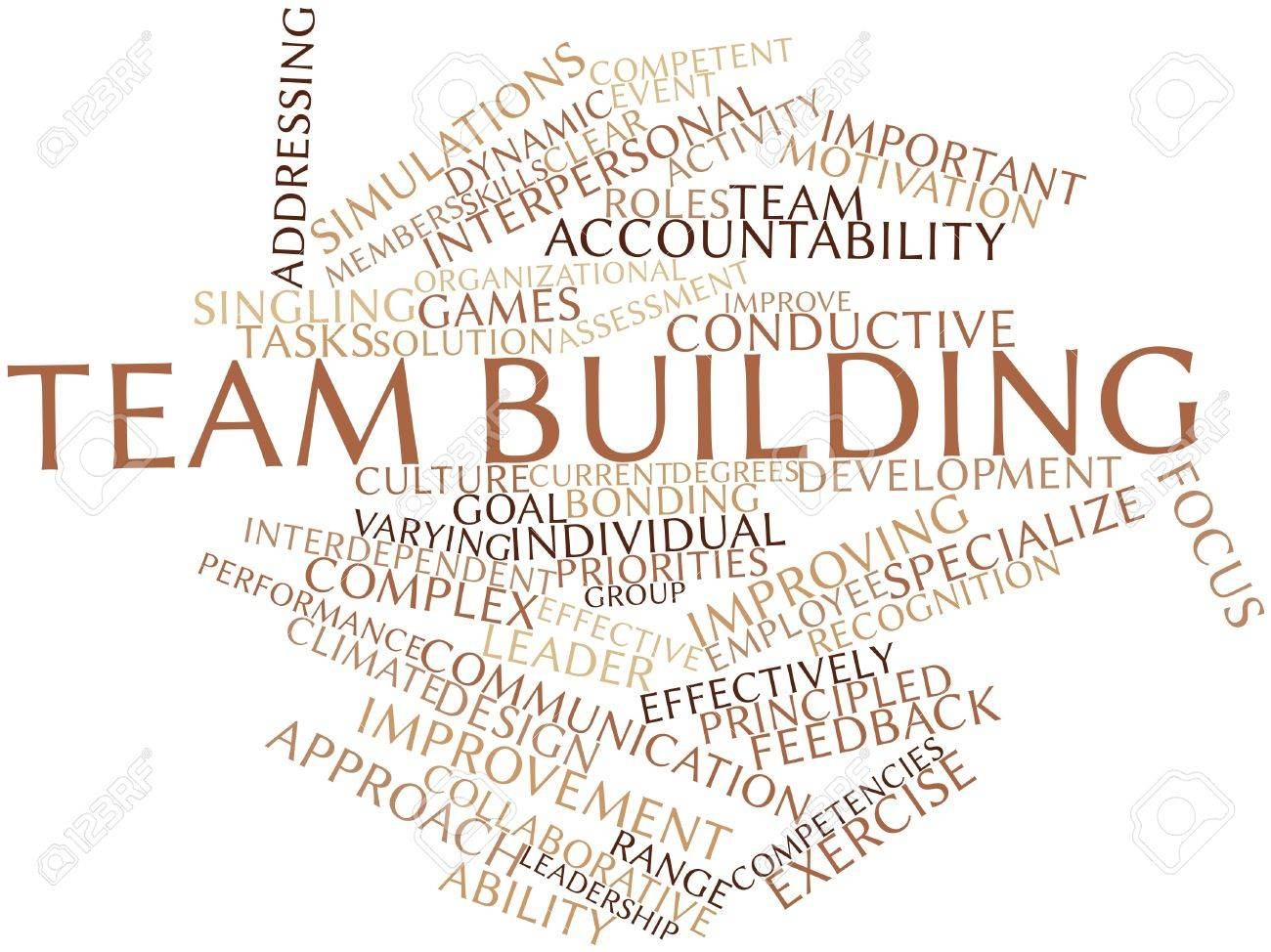 Abstract word cloud for Team building with related tags and terms Stock Photo - 15995720
