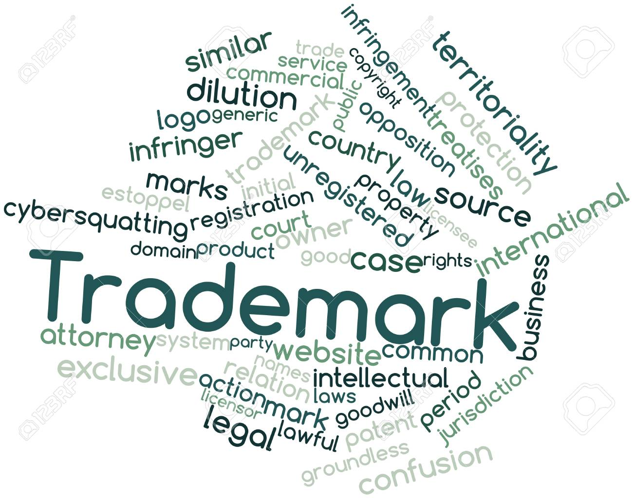 Abstract word cloud for Trademark with related tags and terms Stock Photo - 15995712