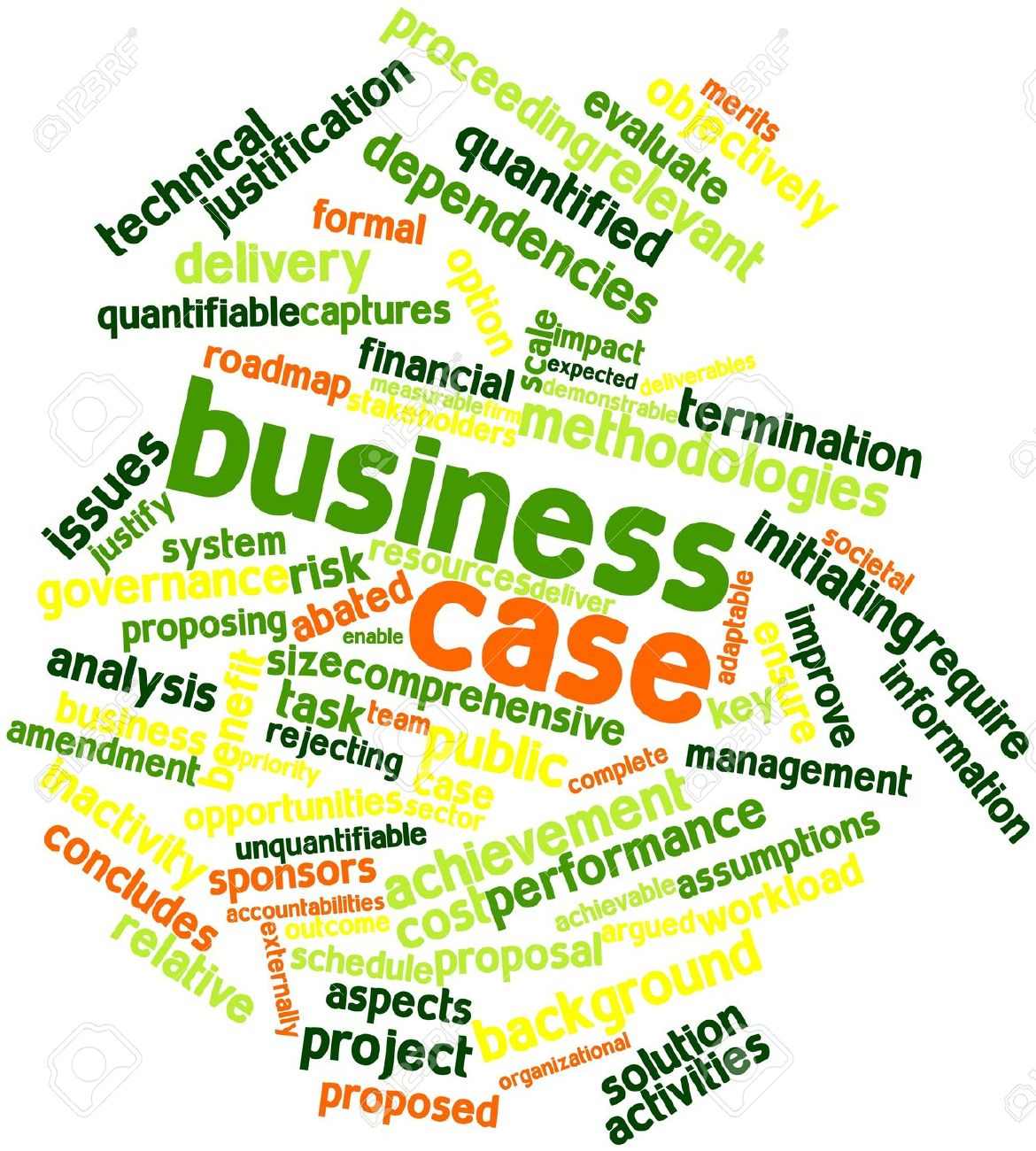 Abstract word cloud for Business case with related tags and terms Stock Photo - 15997953