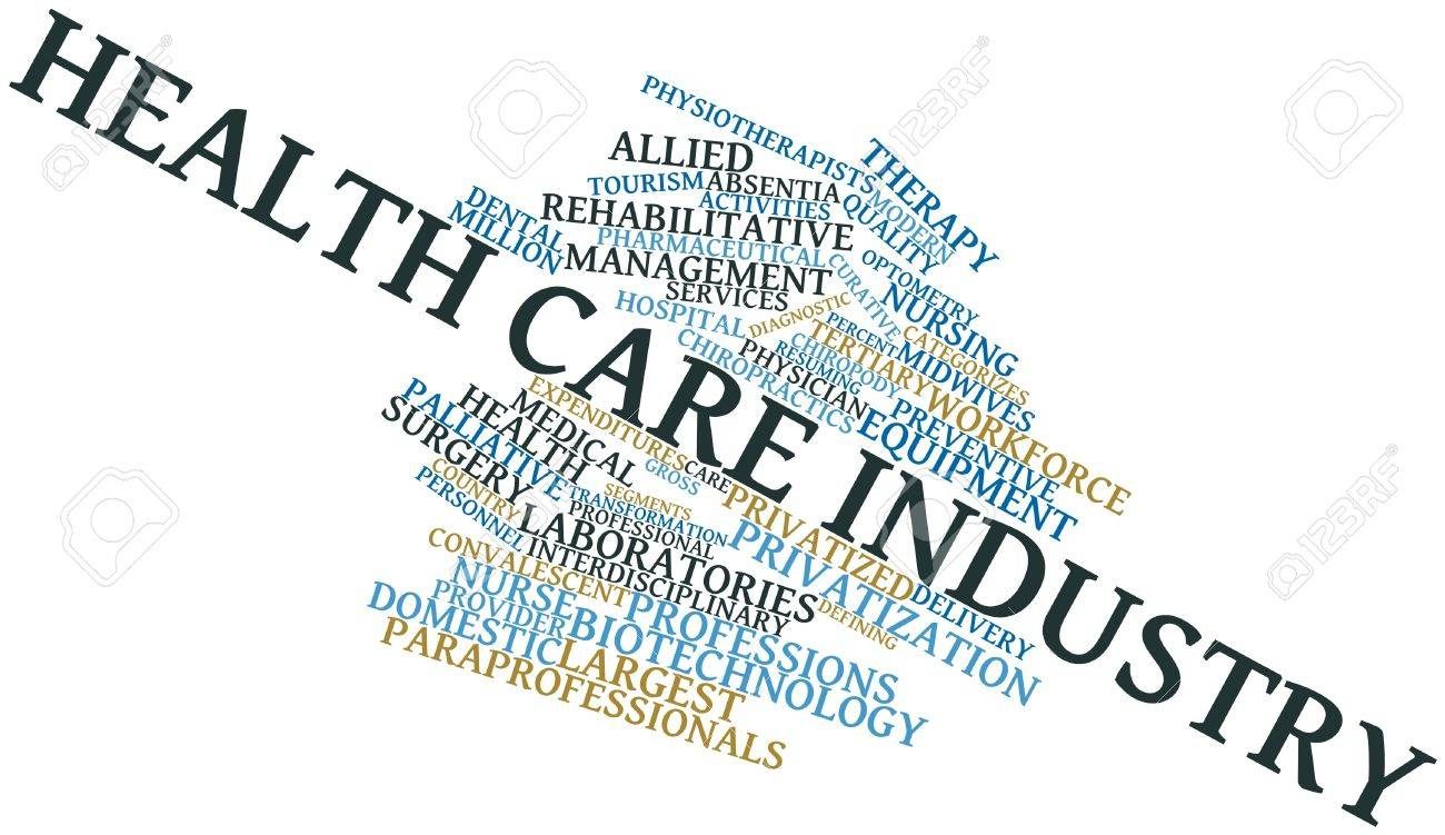 Abstract word cloud for Health care industry with related tags and terms Stock Photo - 15996321