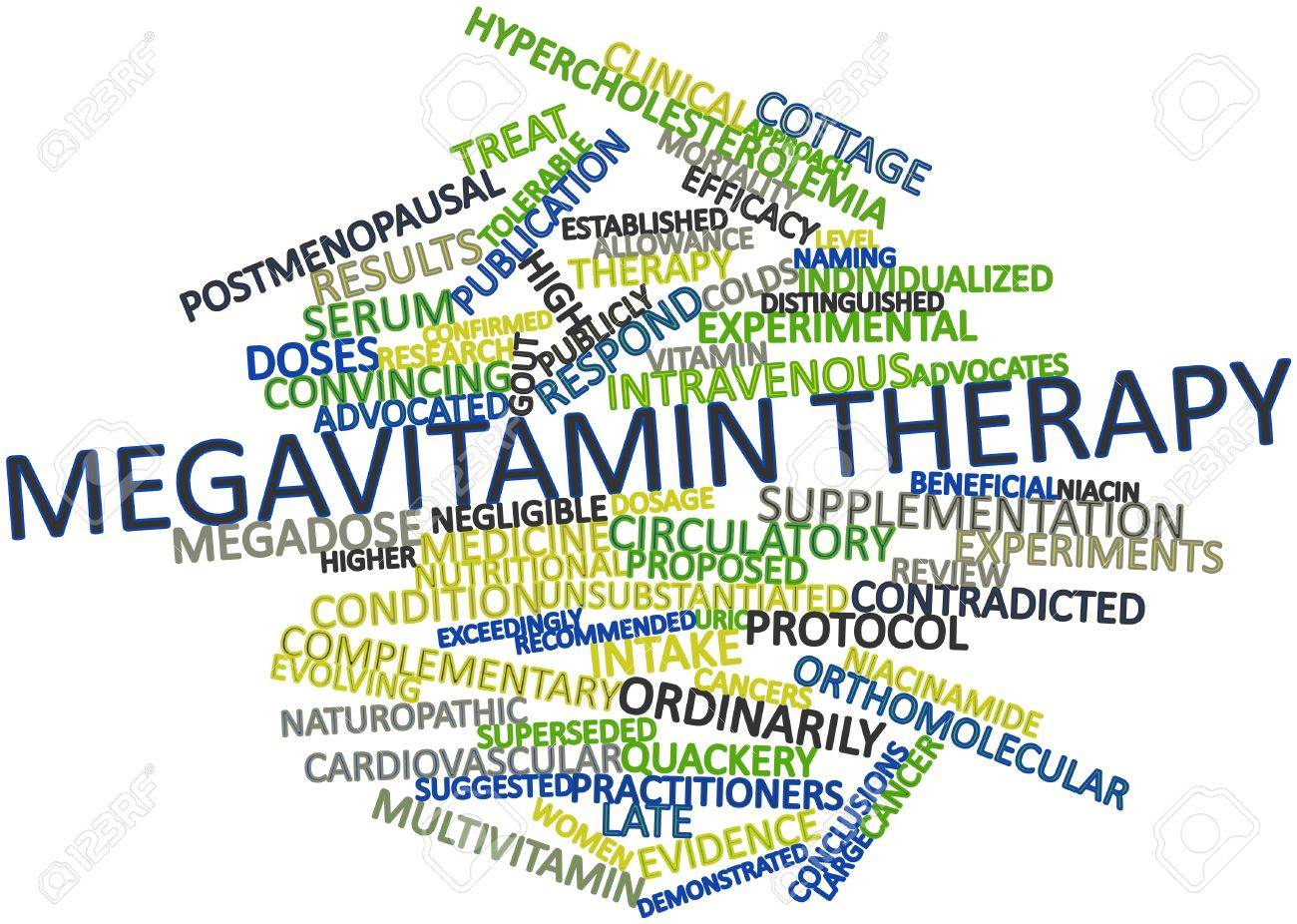 Abstract word cloud for Megavitamin therapy with related tags and terms Stock Photo - 15997898
