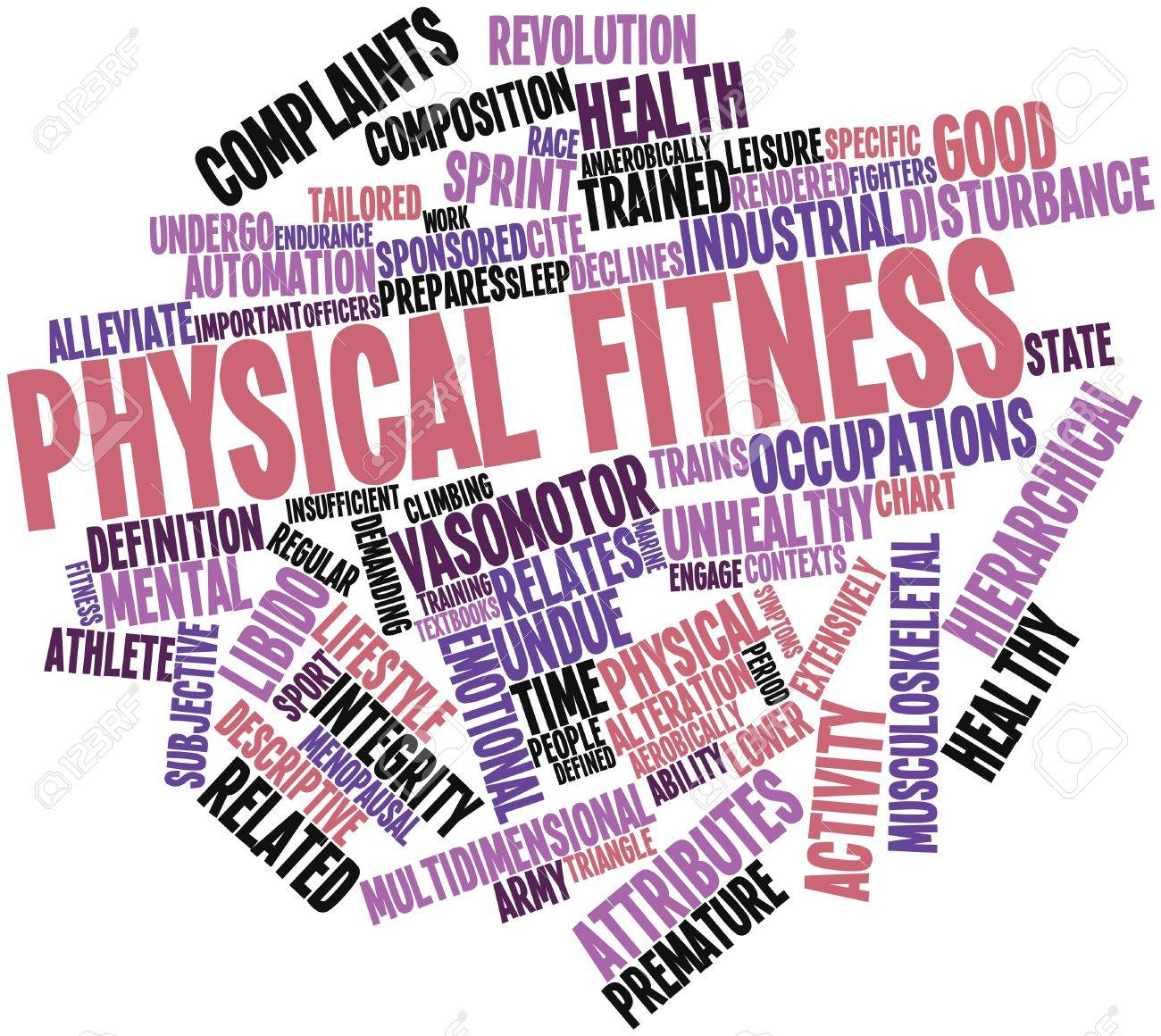 Abstract Word Cloud For Physical Fitness With Related Tags And ...