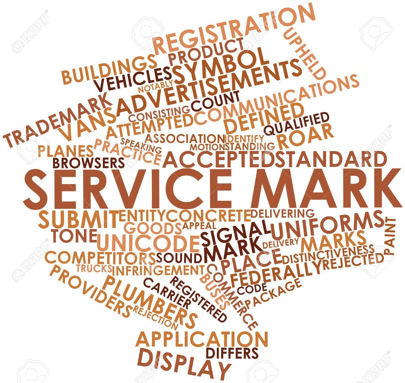 Abstract word cloud for Service mark with related tags and terms Stock Photo - 15997010