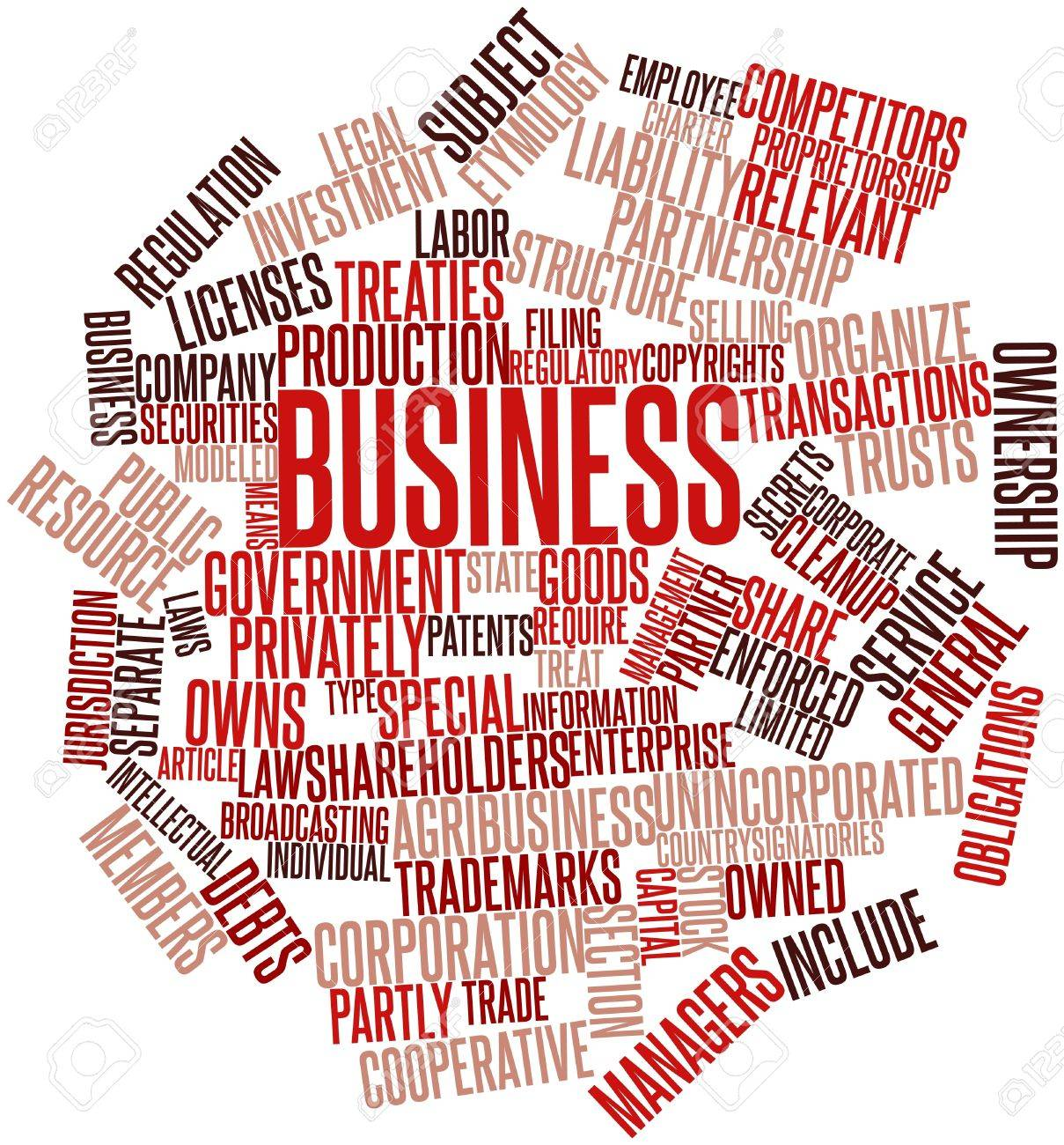 Abstract word cloud for Business with related tags and terms Stock Photo - 16047983