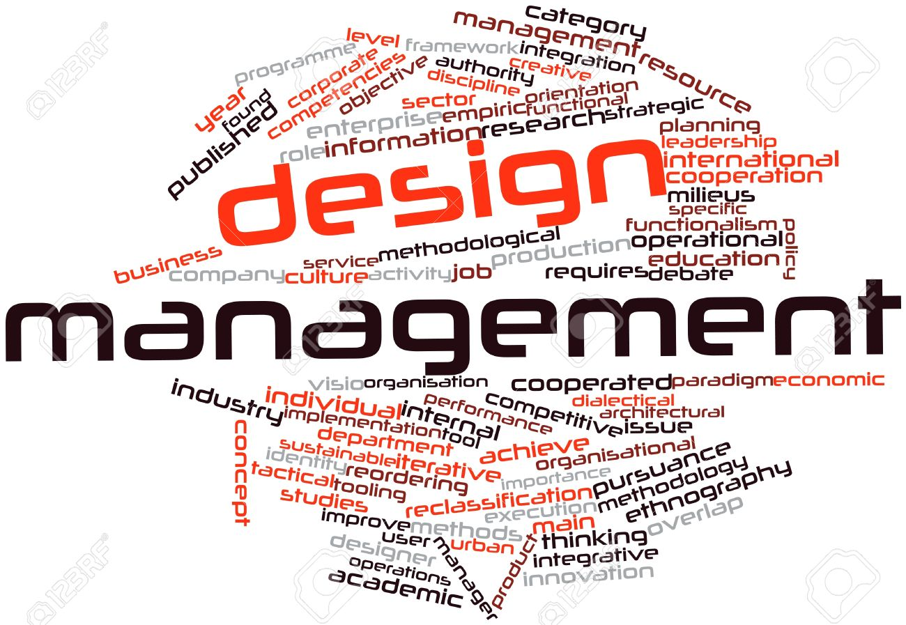 Abstract Word Cloud For Design Management With Related Tags And ...