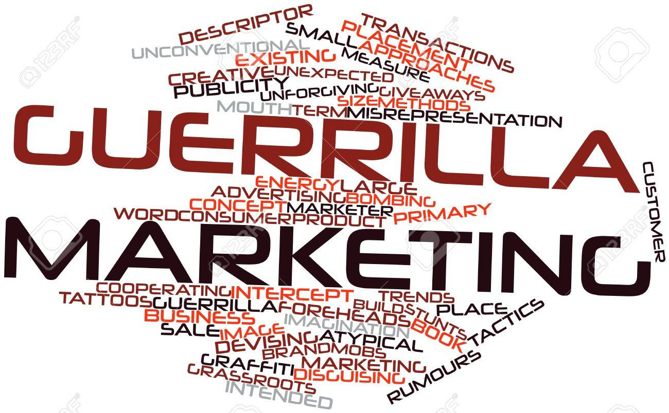 Abstract word cloud for Guerrilla marketing with related tags and terms Stock Photo - 16042227