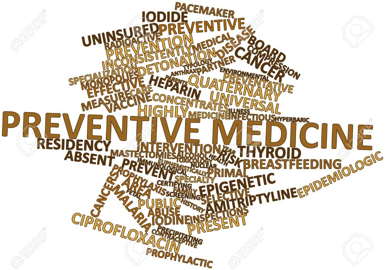 Abstract word cloud for Preventive medicine with related tags and terms Stock Photo - 16042637