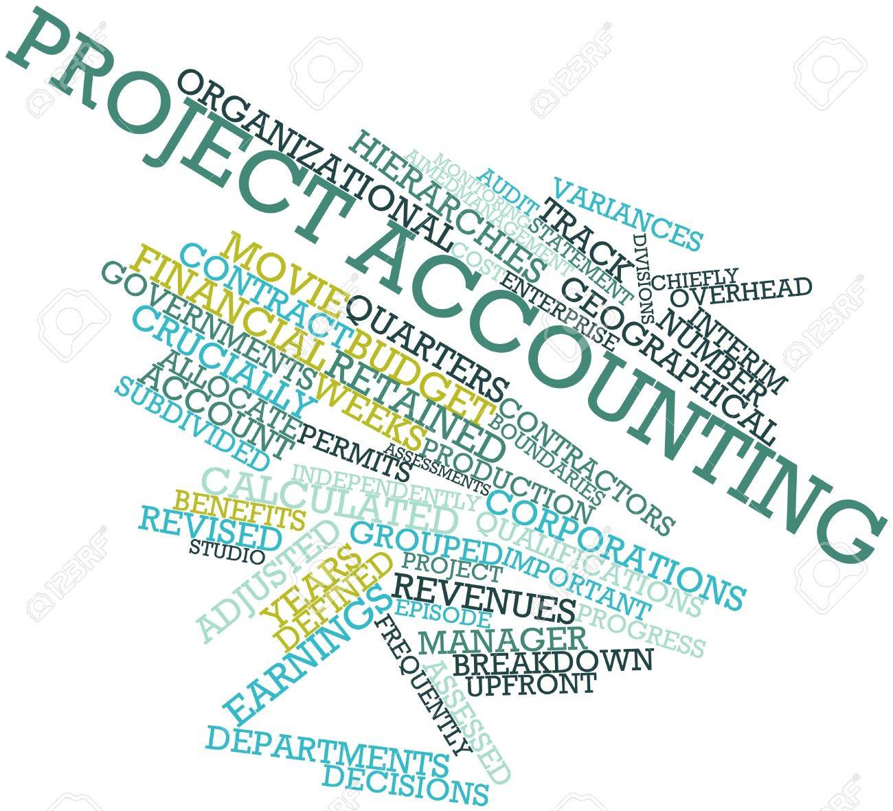 Abstract word cloud for Project accounting with related tags and terms Stock Photo - 16042307