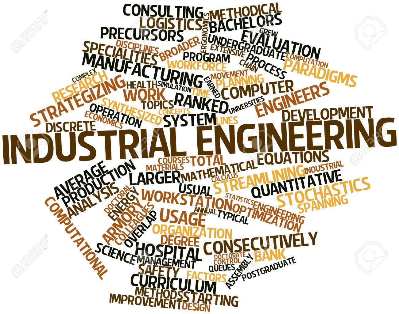 Nube Palabra Abstracta Para La Ingeniería Industrial Con Etiquetas Y ...