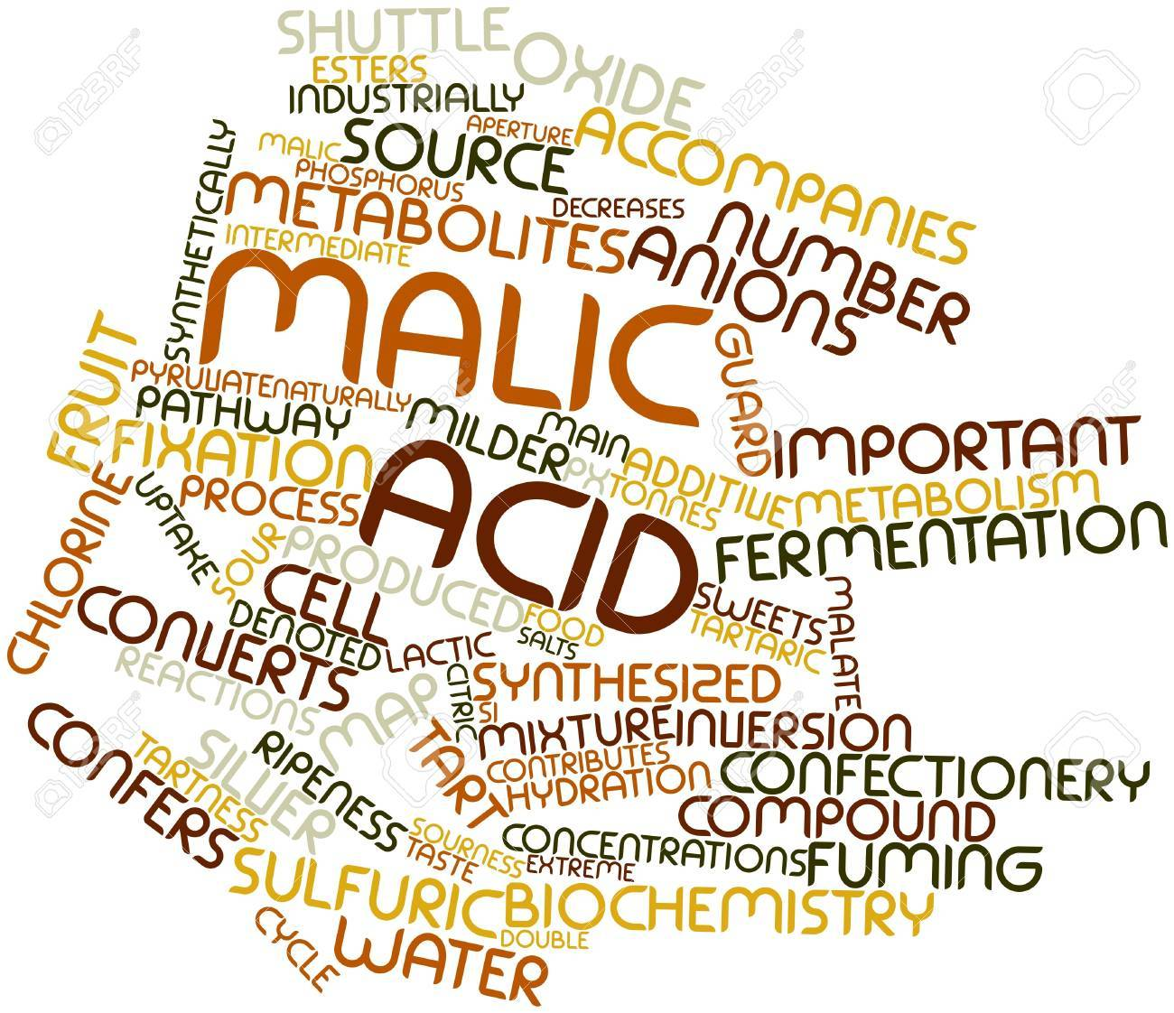 Abstract word cloud for Malic acid with related tags and terms Stock Photo - 16049332