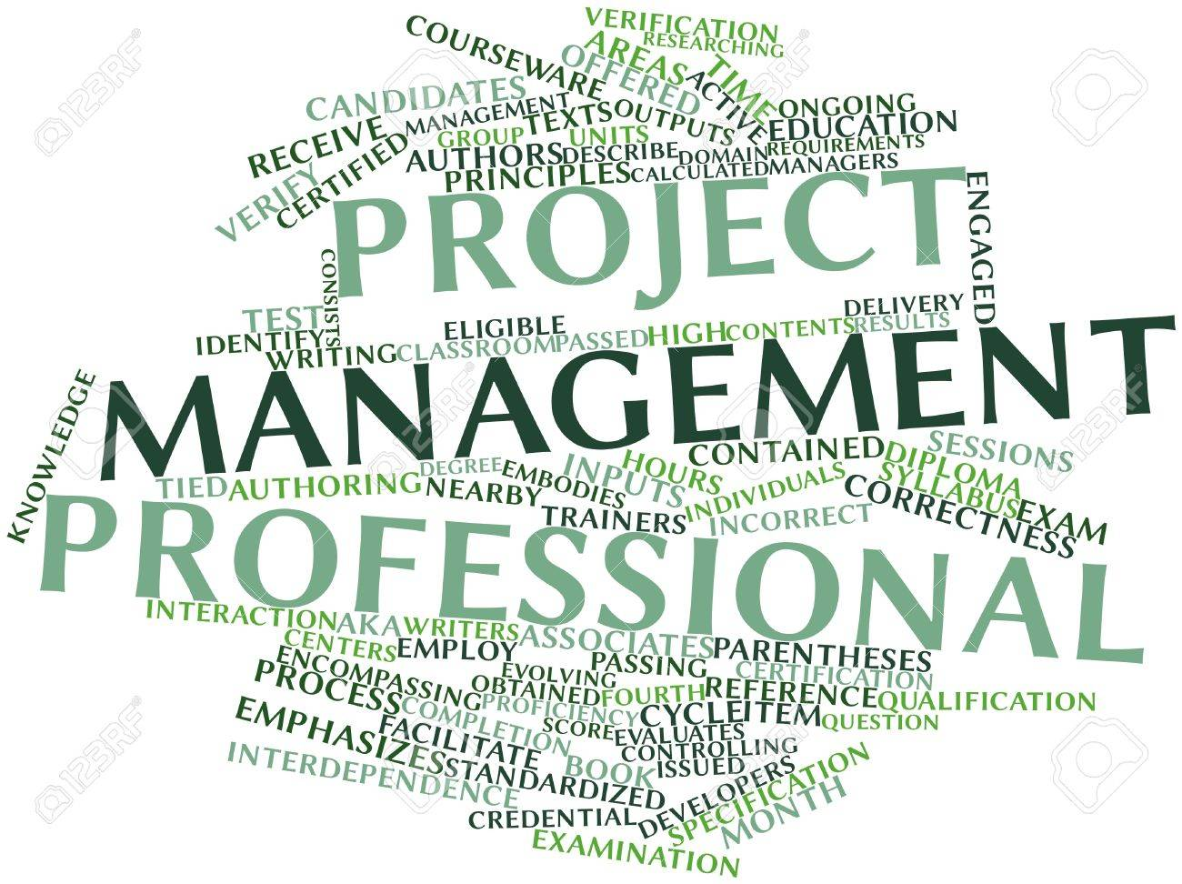 Abstract word cloud for Project Management Professional with related tags and terms Stock Photo - 16048250