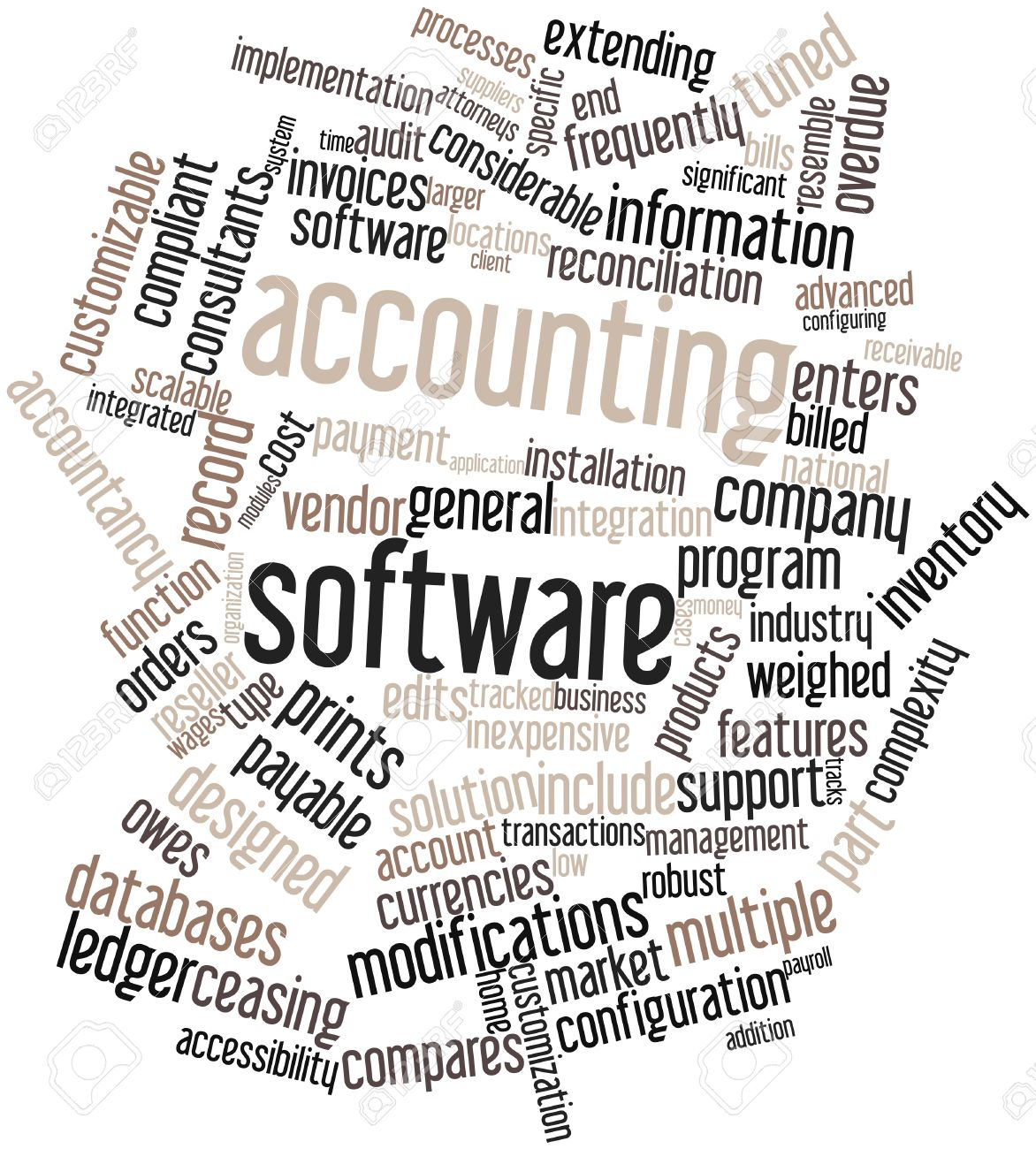Abstract word cloud for Accounting software with related tags and terms Stock Photo - 16084215