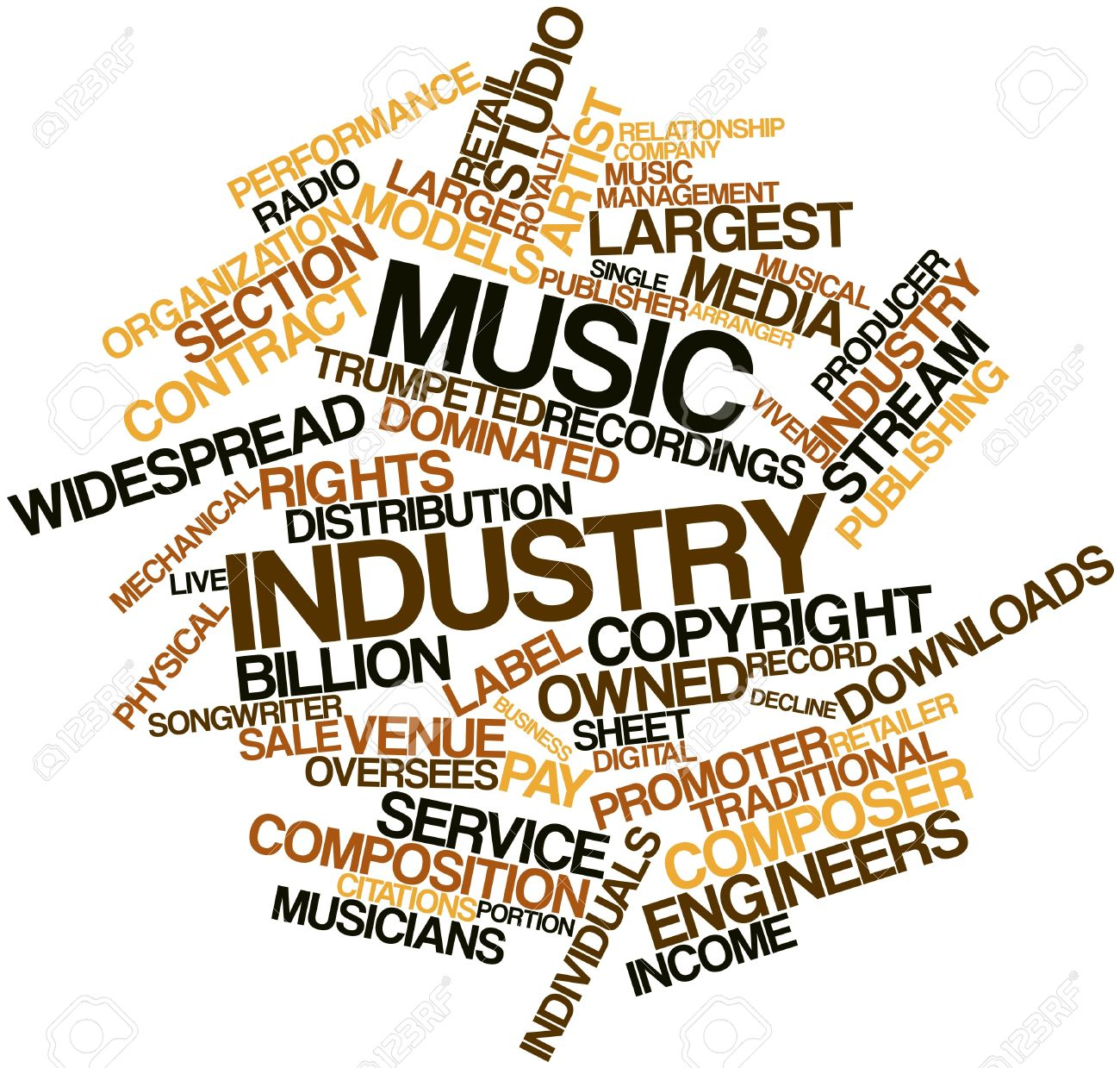 Abstract word cloud for Music industry with related tags and terms Stock Photo - 16414248