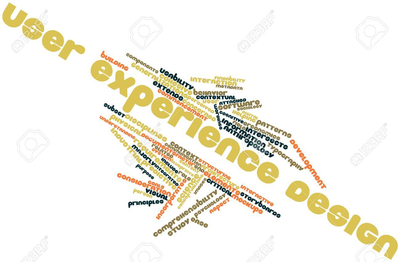 Abstract word cloud for User experience design with related tags and terms Stock Photo - 16413629