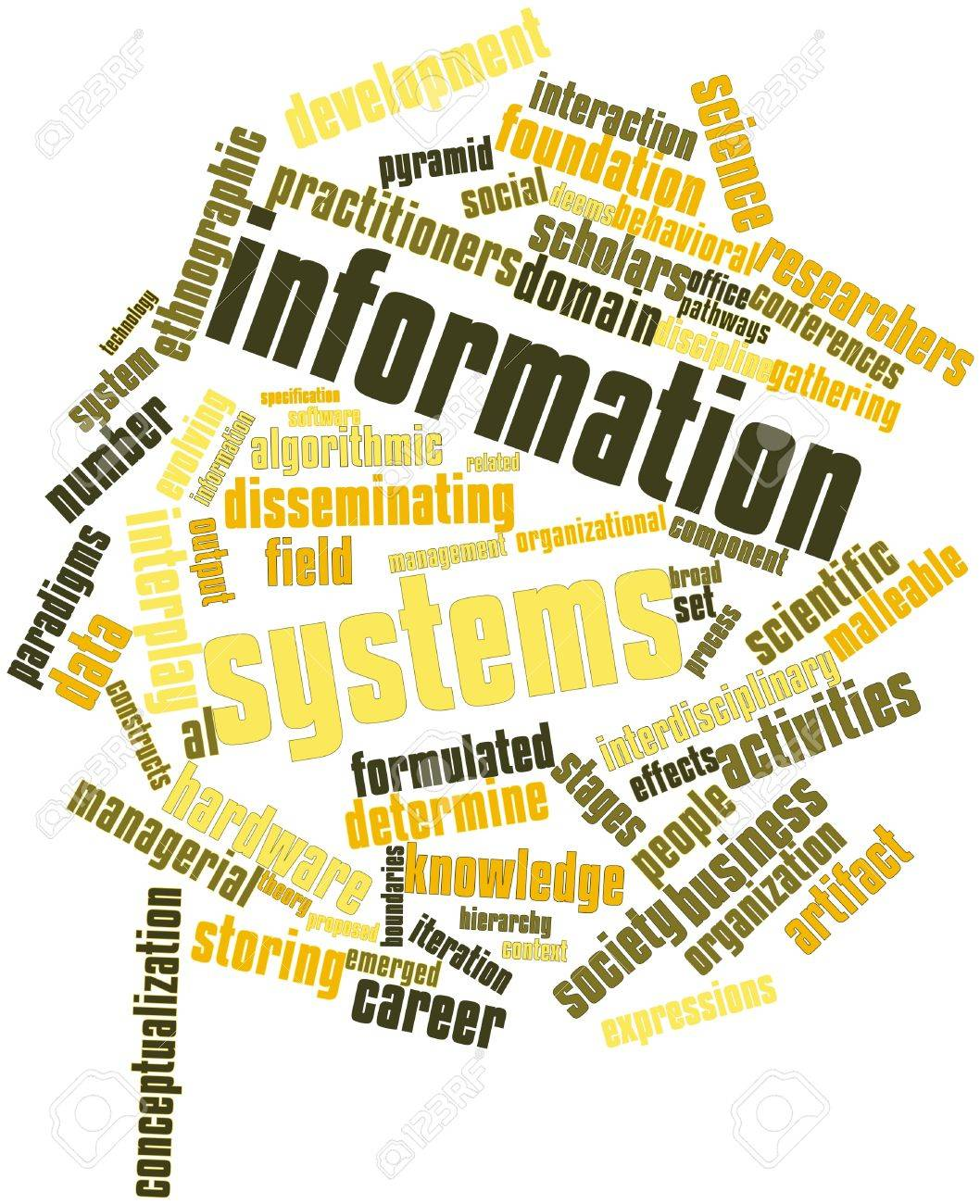 Abstract word cloud for Information systems with related tags and terms Stock Photo - 16414334