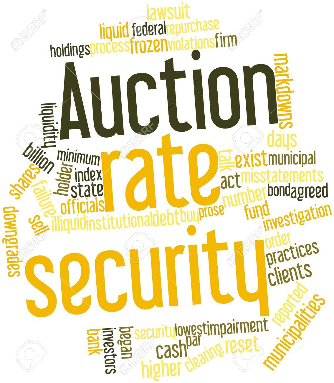Abstract word cloud for Auction rate security with related tags and terms Stock Photo - 16445928