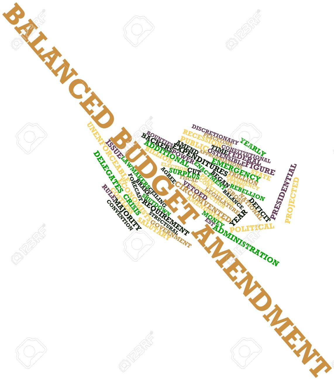 Abstract word cloud for Balanced budget amendment with related tags and terms Stock Photo - 16445916