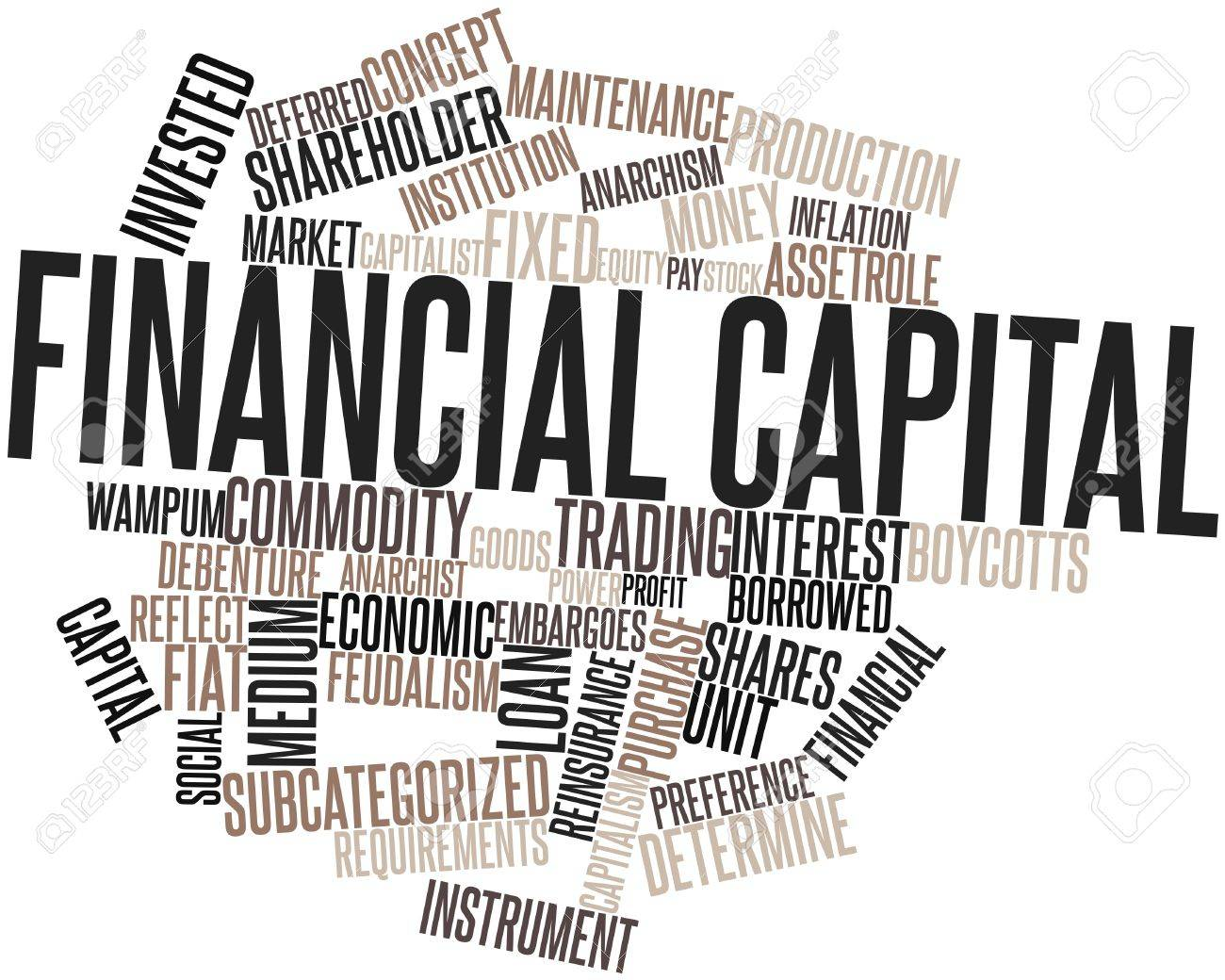 Abstract word cloud for Financial capital with related tags and terms Stock Photo - 16445938