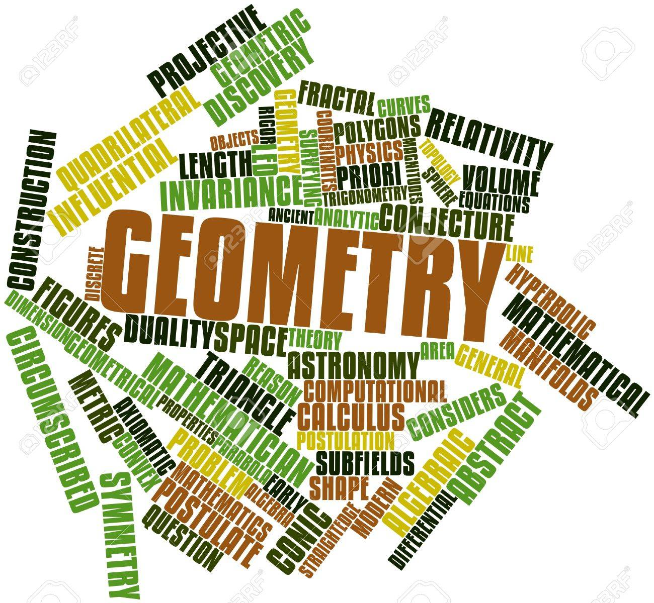 Abstract word cloud for Geometry with related tags and terms Stock Photo - 16446009