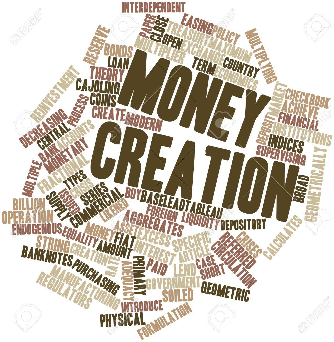 Abstract word cloud for Money creation with related tags and terms Stock Photo - 16445991