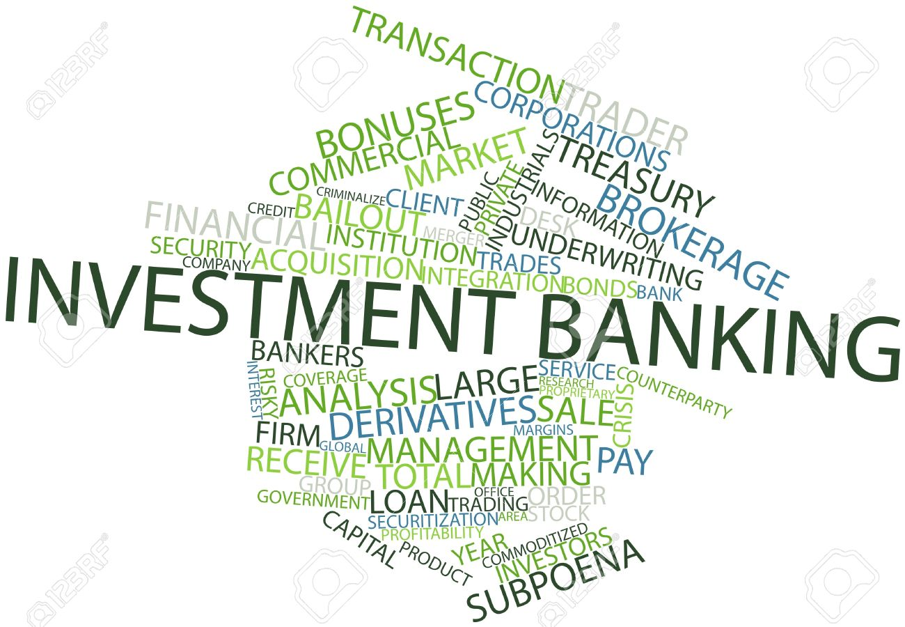 abstract word cloud for investment banking with related tags stock