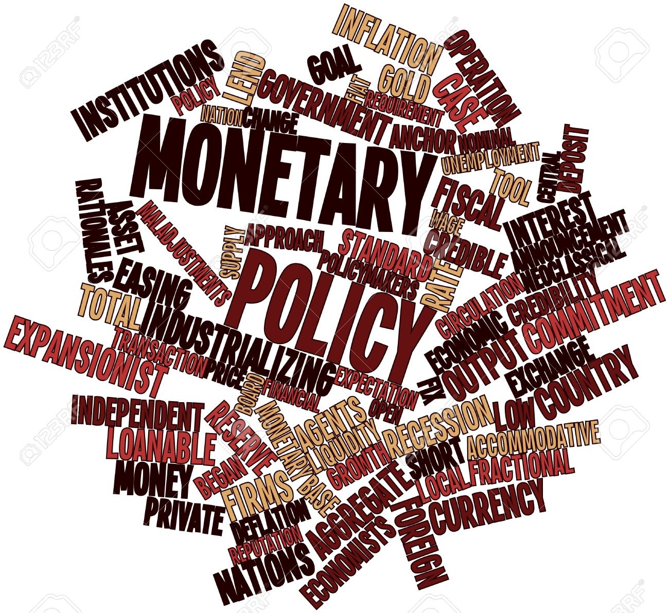 Abstract word cloud for Monetary policy with related tags and terms Stock Photo - 16468121