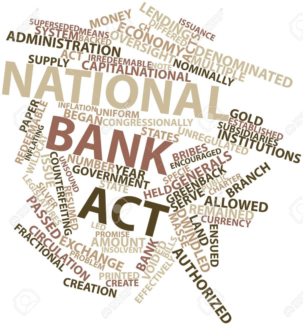 Abstract word cloud for National Bank Act with related tags and terms Stock Photo - 16468012