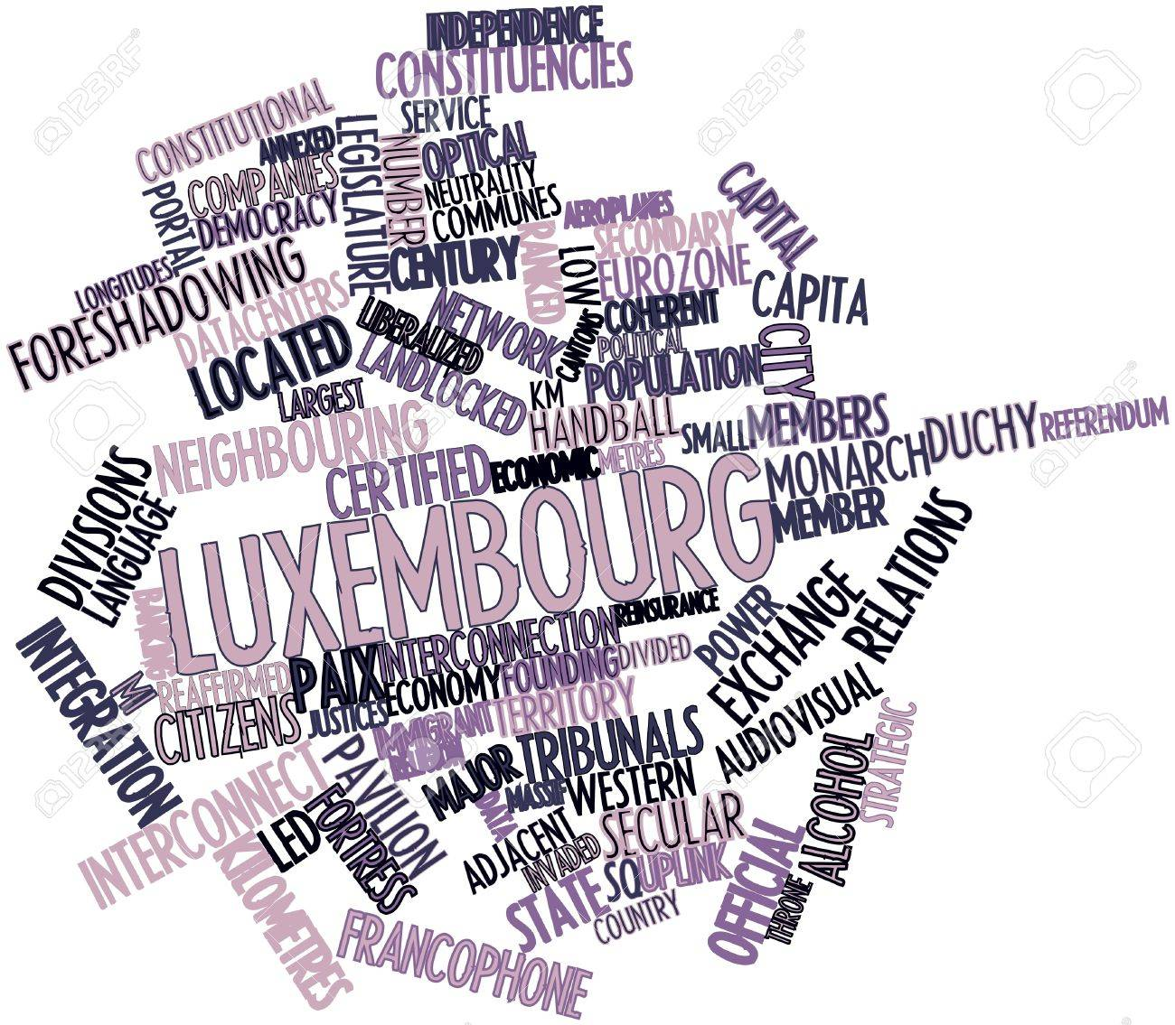 Abstract word cloud for Luxembourg with related tags and terms Stock Photo - 16468103