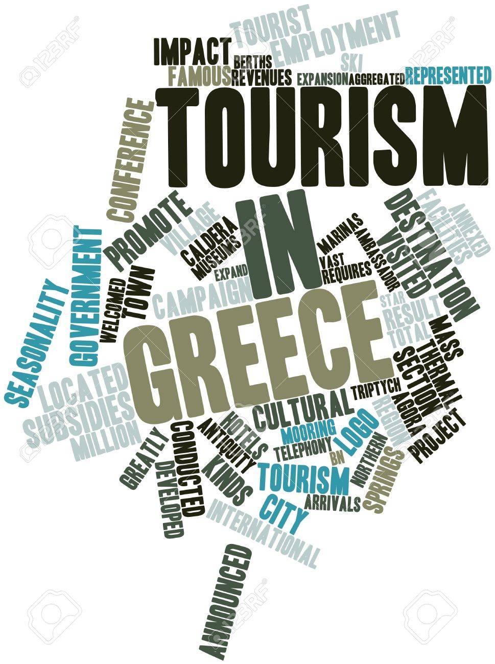 Abstract word cloud for Tourism in Greece with related tags and terms Stock Photo - 16467894