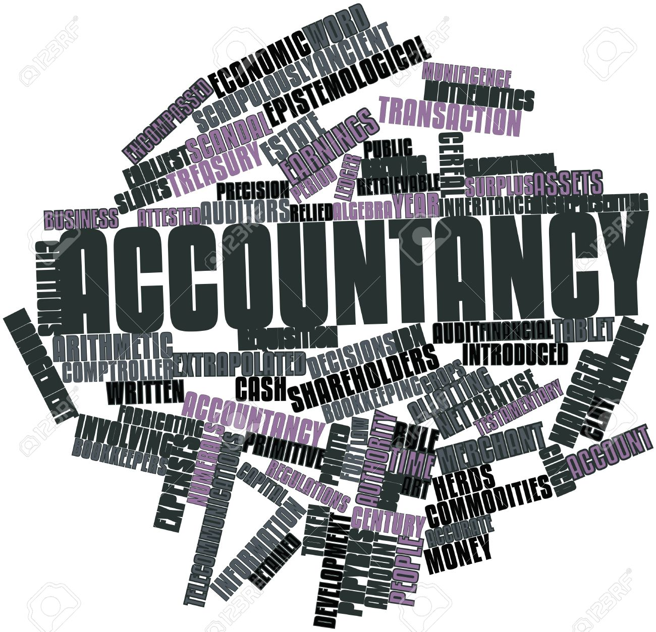 Abstract word cloud for Accountancy with related tags and terms Stock Photo - 16489234