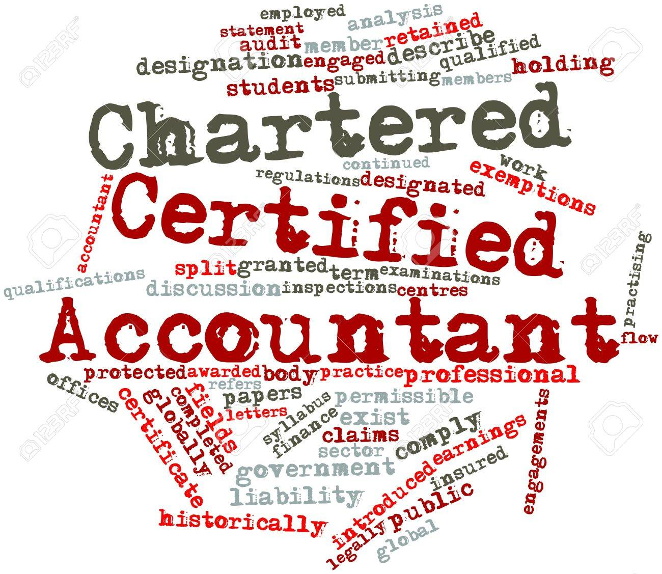 Abstract word cloud for Chartered Certified Accountant with related tags and terms Stock Photo - 16489137