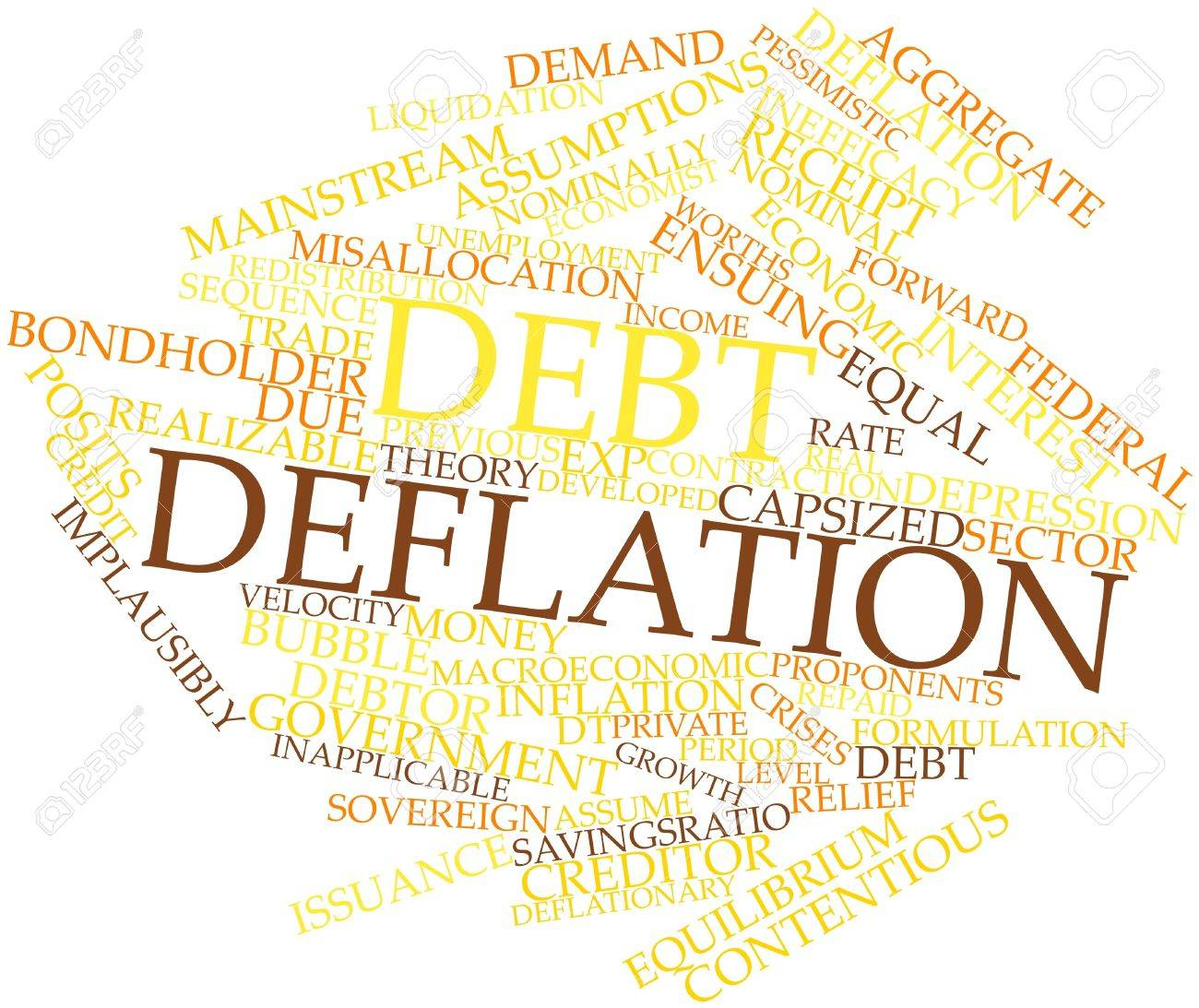 Abstract word cloud for Debt deflation with related tags and terms Stock Photo - 16498668