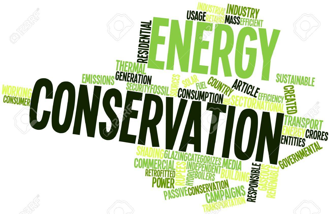 Abstract Word Cloud For Energy Conservation With Related Tags ...
